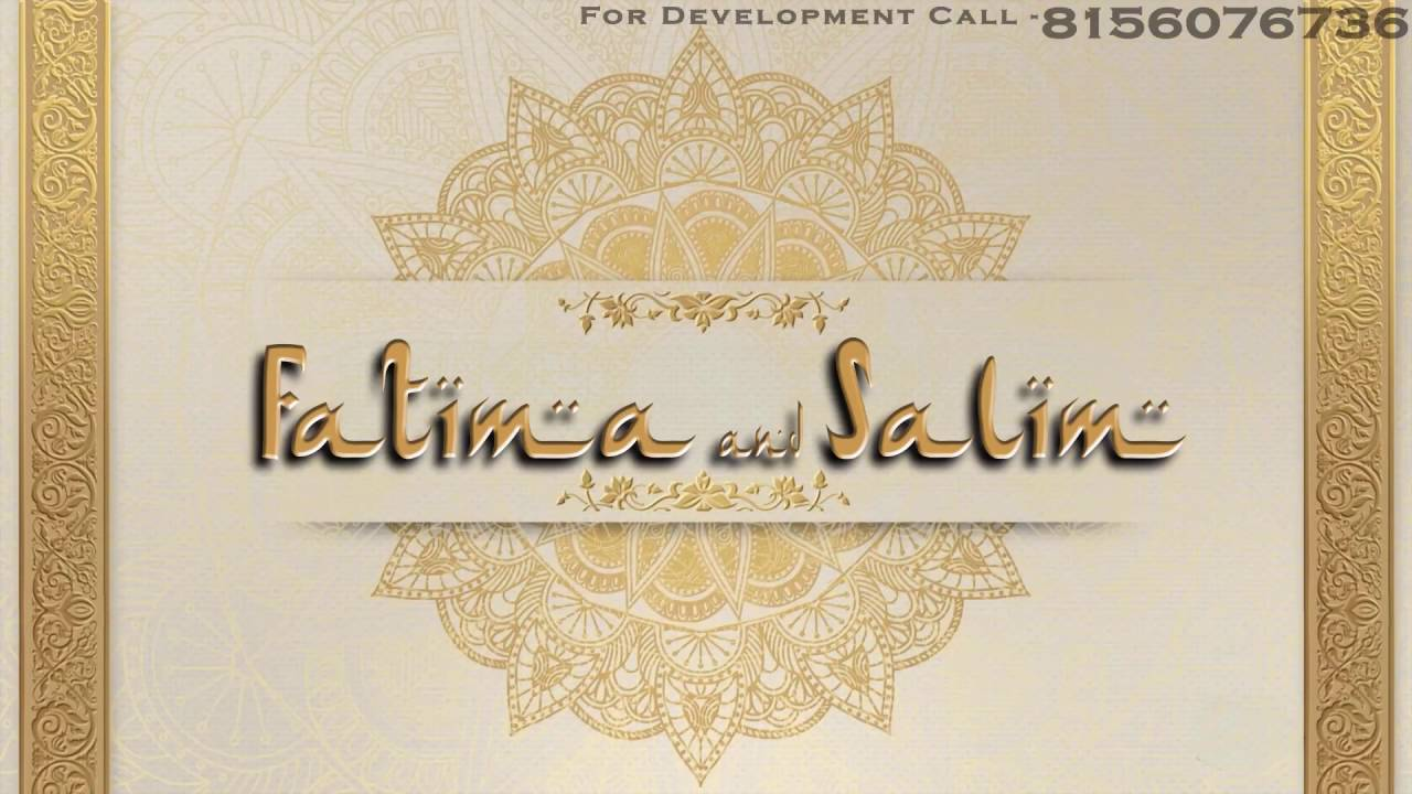 Muslim or Islamic Wedding, Whatsapp Wedding Cards on Rs.900 Only ...