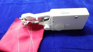 How to use Handheld Sewing Machine/ Portable and Cordless Handy Stitch/ Handheld Sewing Machine demo