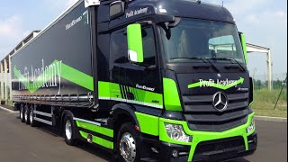 NEW MERCEDES-BENZ ACTROS AUTONOMOUS DRIVING 2015 - FIRST TEST DRIVE