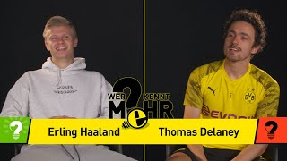Erling Haaland vs Thomas Delaney | Who knows more? - BVB-Challenge