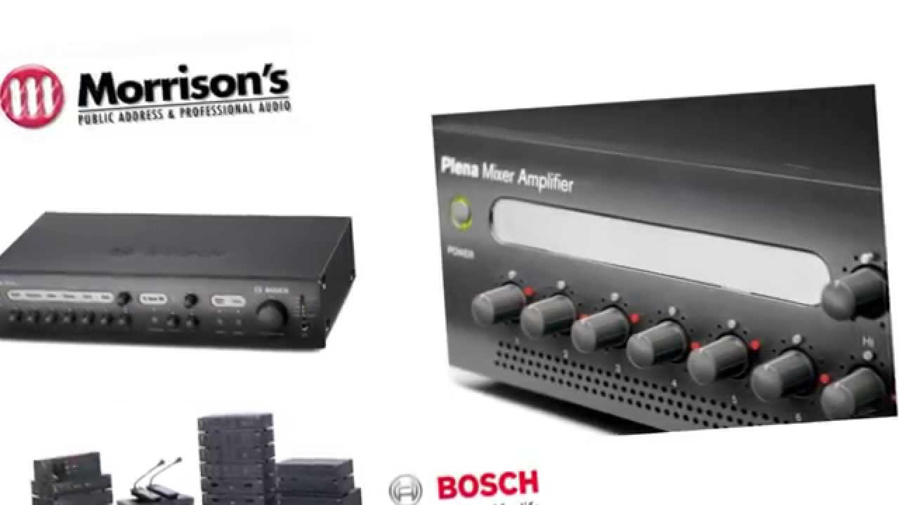 Bosch Pa Amplifiers  Speakers  Microphones