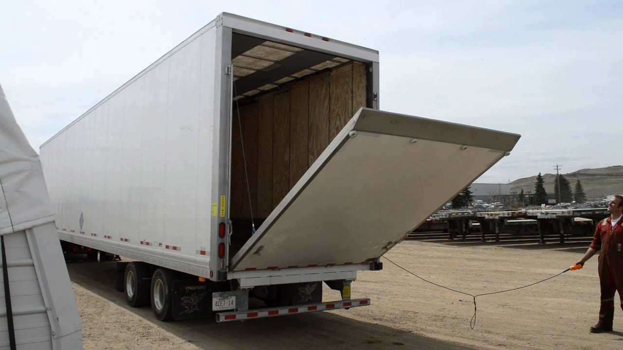 2015 Manac Drop Frame Van with Hydraulic Rear Door - YouTube