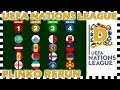 UEFA Nations League D Rerun - Plinko Marble Race - Who Will Win? - Algodoo