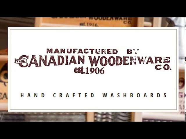 Canadian Woodenware Co washboard video during Covid-19