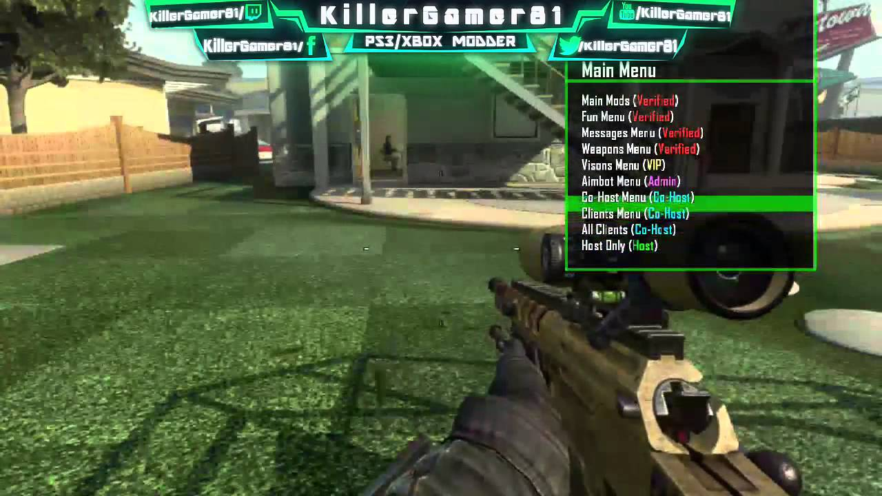 how to get mods on bo2 ps3