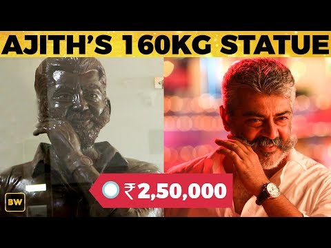Viswasam Ajith's HUGE Statue by a Viswasi Thala Fan!