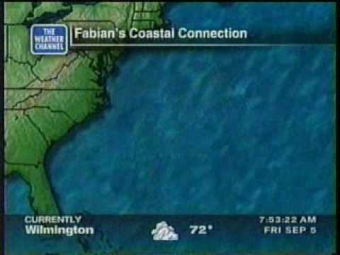 TWC Hurricane Fabian coverage 2003: Clip 1