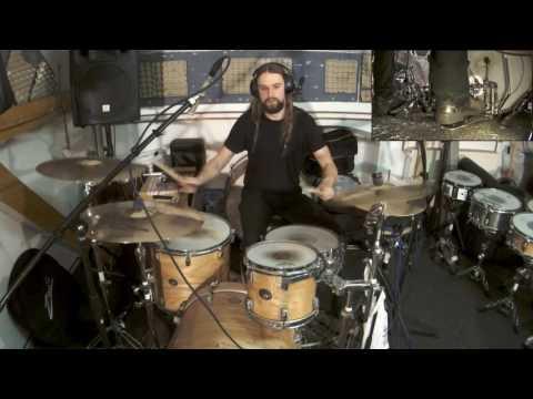 """drum jam - Ghost - Square Hammer (Tama Silverstar kit & 14""""x5.5"""" diy Oriollo aluminium snare drum)"""