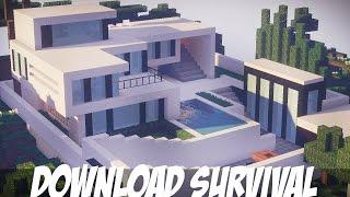 minecraft casa moderna super survival mapa