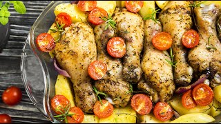 Как приготовить курицу с картошкой? / Сочная курица в духовке на Новый год 2019