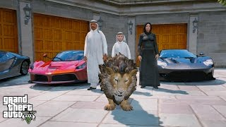 GTA 5 REAL LIFE PRINCE OF DUBAI MOD#5 BUYING A LION PET