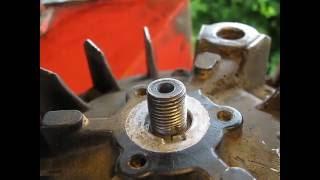 montage clavette volant magnétique tondeuse.panne allumage tecumseh clavette