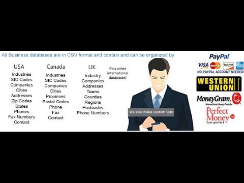 UAE United Arab Emirates business database and b2b email list - YouTube