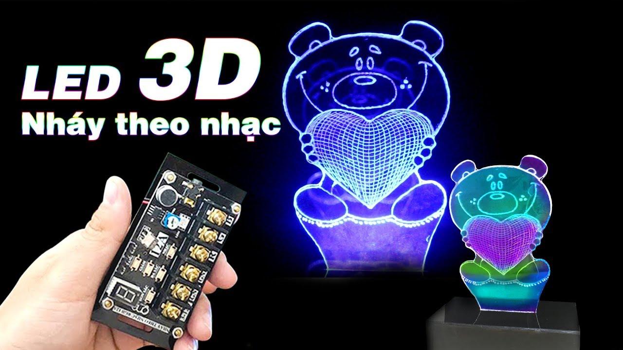 Chế LED 3D NHÁY THEO NHẠC