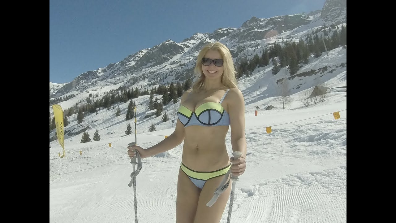 Question bikini skiing pictures that would