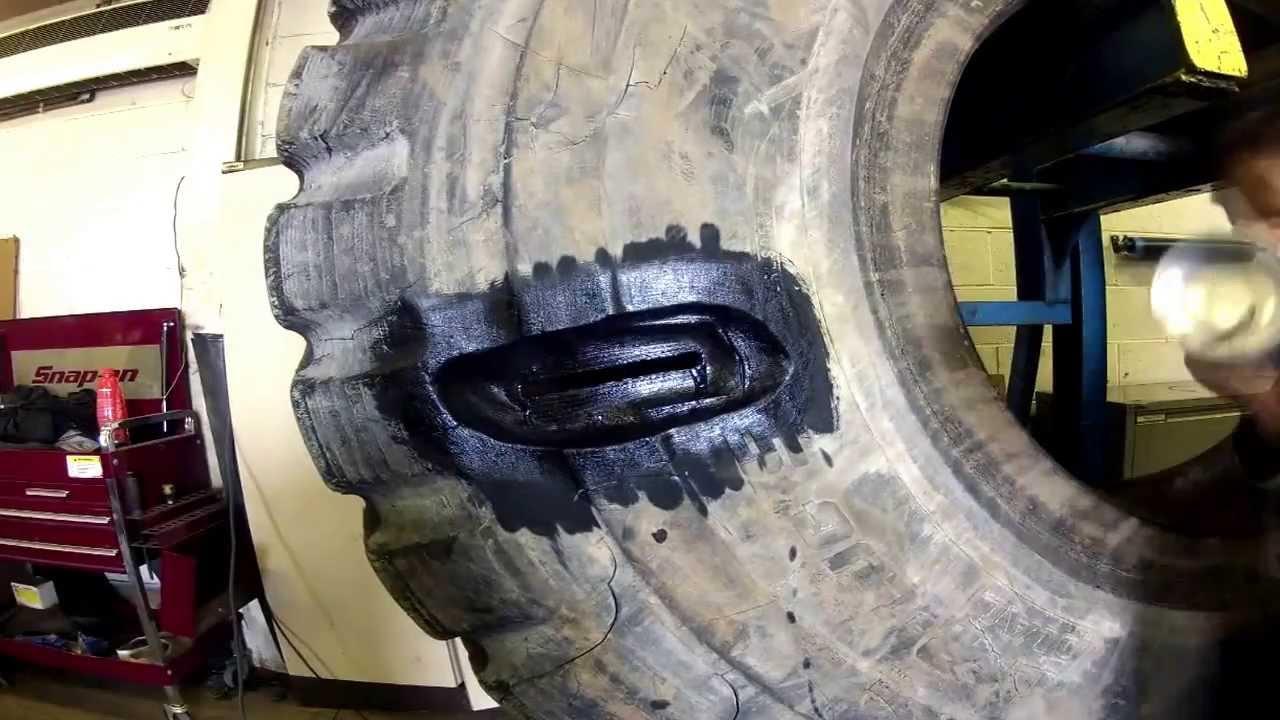earthmover tyre repair youtube