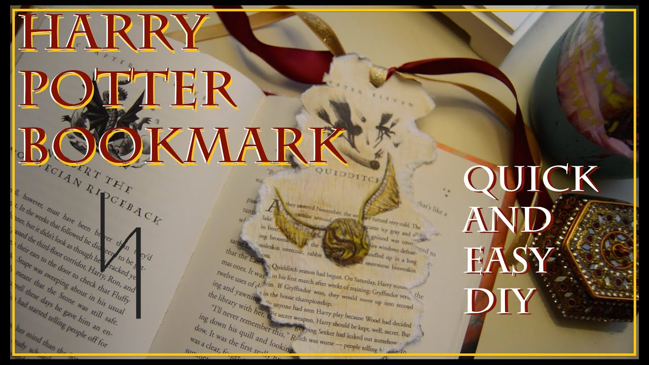 Harry potter bookmark quick easy diy youtube solutioingenieria Image collections