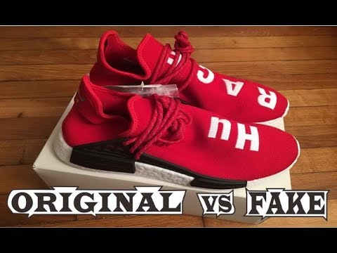 aa7e85155972c Adidas X Pharrell Williams NMD Human Race Scarlet Red Original   Fake