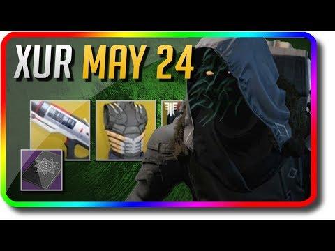 "Destiny 2 - Xur Location & Exotic Armor & Xur Bounty ""Sweet Business"" 5/24/2019 (Xur May 24)"