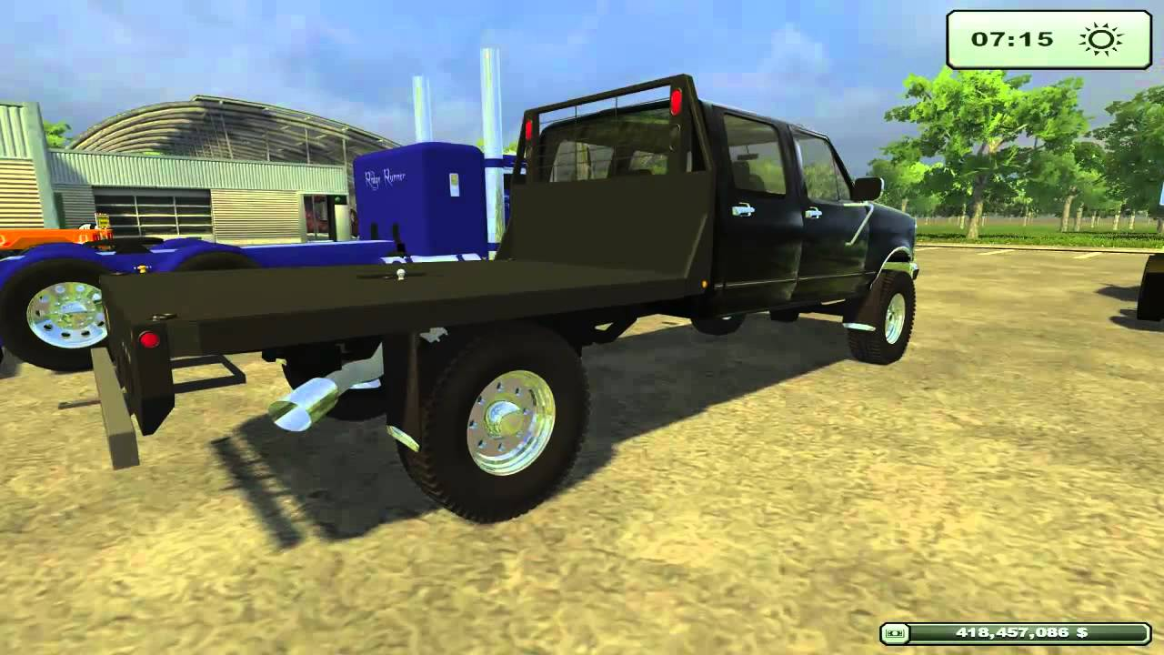 Farming Simulator 2013 American Semi's, Trucks, and Lowboy