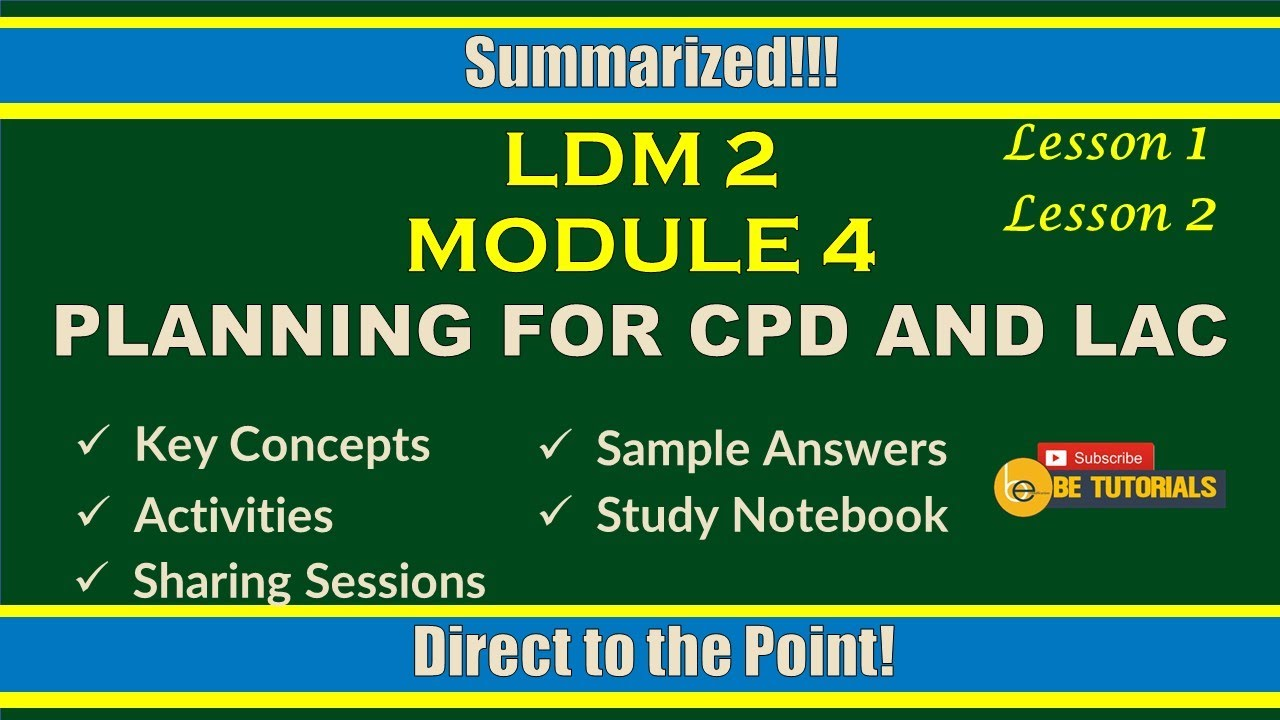 Download LDM2 Module 4 Planning for CPD and LAC