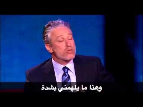 Jon Stewart on satire & democracy in the middle east.