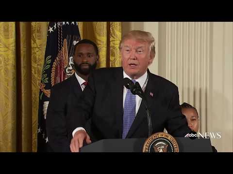 President Donald Trump honors first responders of congressional shooting
