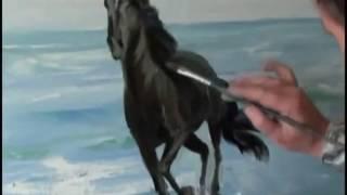 Онпайн трейлер  видеоурока_  Лошадь бегущая по волнам