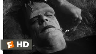 Dracula Wakes Frankenstein Scene - Abbott and Costello Meet Frankenstein Movie (1948) - HD
