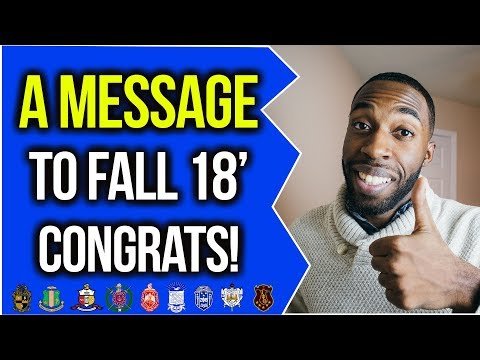 A MESSAGE TO FALL 18' INITIATES | NPHC ADVICE | COREY JONES