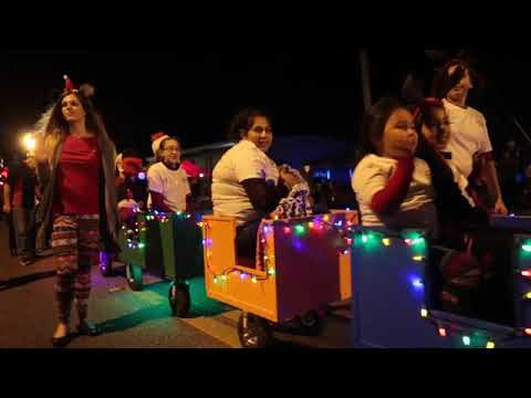 Locals enjoy the annual Panama City Christmas Parade on Saturday.