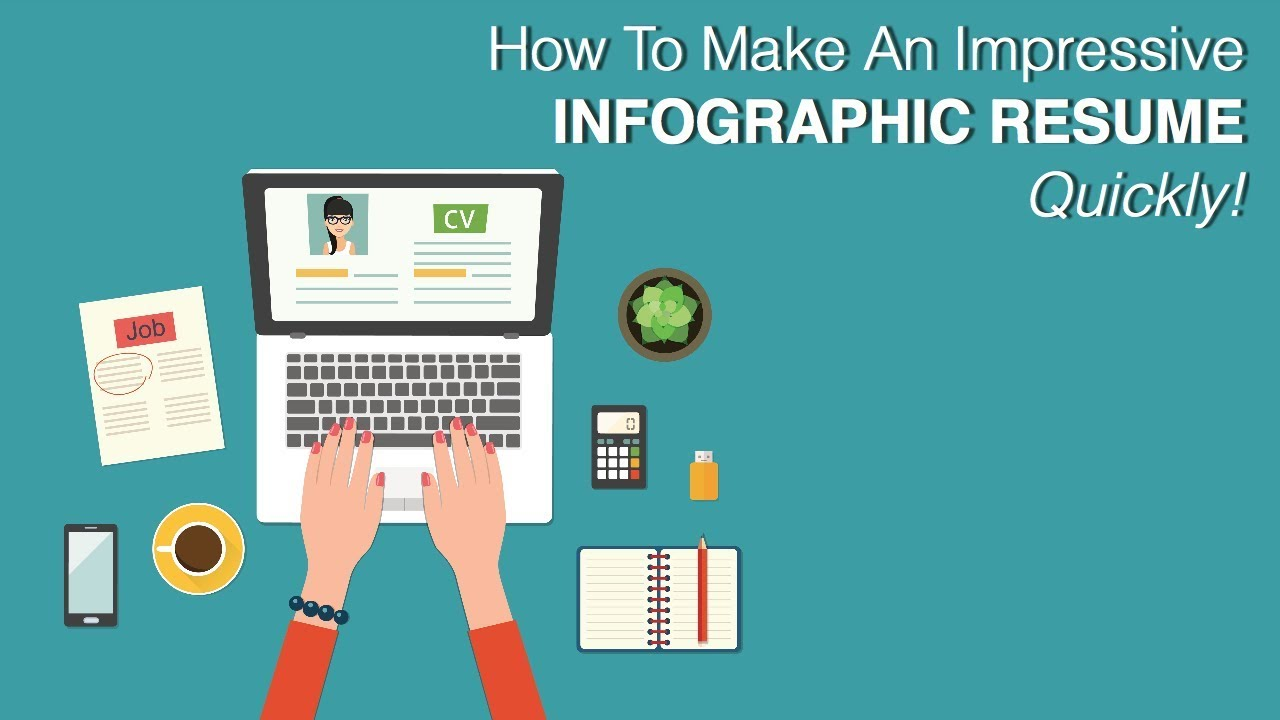 how to make an impressive infographic resume quickly youtube