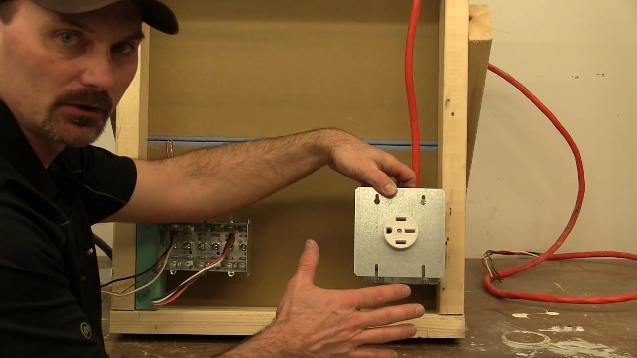 4 Prong Electric Plug Wiring Diagram Range Receptacle Wiring Youtube