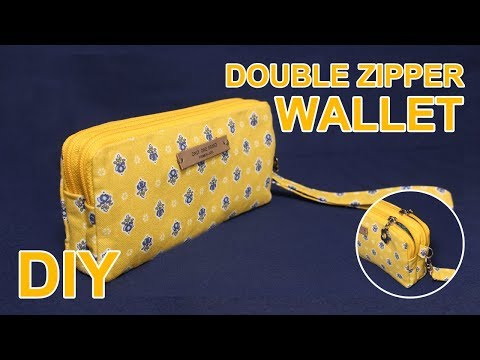 DIY Double zipper purse | 더블지퍼 클러치백 만들기 | Clutch bag tutorial | クラッチバッグ 作り方 #sewingtimes
