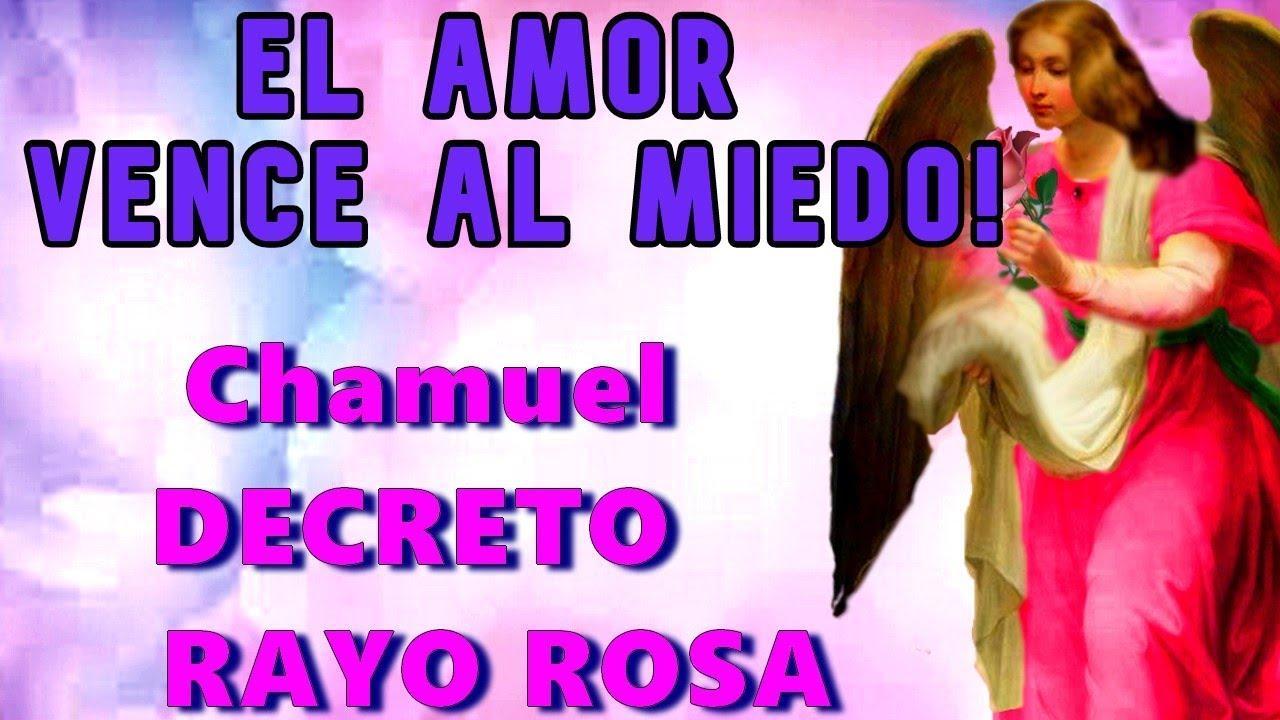 El AMOR ELIMINA el MIEDO 💗DECRETO Rayo Rosa ASISTE Arcángel CHAMUEL ¡el CIELO ES EL LIMITE! 💗