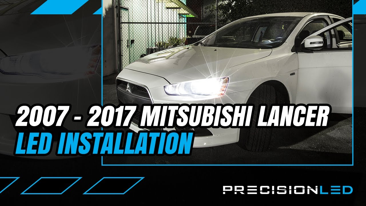 hight resolution of mitsubishi lancer led headlights how to install 2007 present