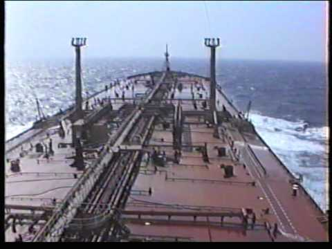 Esso Picardie at sea -outbound Genoa in ballast.