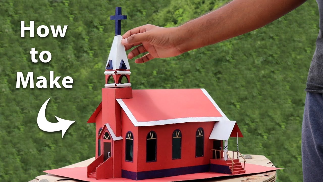 How To Make Church Using Cardboard Youtube