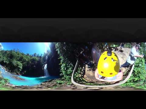 Río celeste la fortuna Costa Rica Tour $70 lunch included 360 video 4K VR