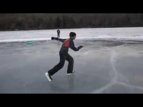 Ice Skating at Laurel Lake Pa 1/20/18