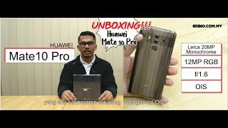 UNBOXING HUAWEI MATE 10 PRO