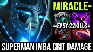Miracle [Phantom Assassin] SuperMan Imba Damage Crit 22KIlls Destroy Crazy Trash Talker Dota 2
