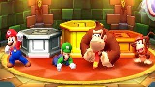 Mario Party Star Rush Minigames - Mario Vs Luigi Vs Diddy Kong Vs DK (Master Cpu)