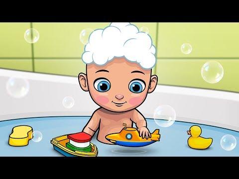 Bath Song - Splish Splash | Kidz Area Nursery Rhymes