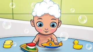 Bath Song - Splish Splash | Kidz Area Nursery Rhymes
