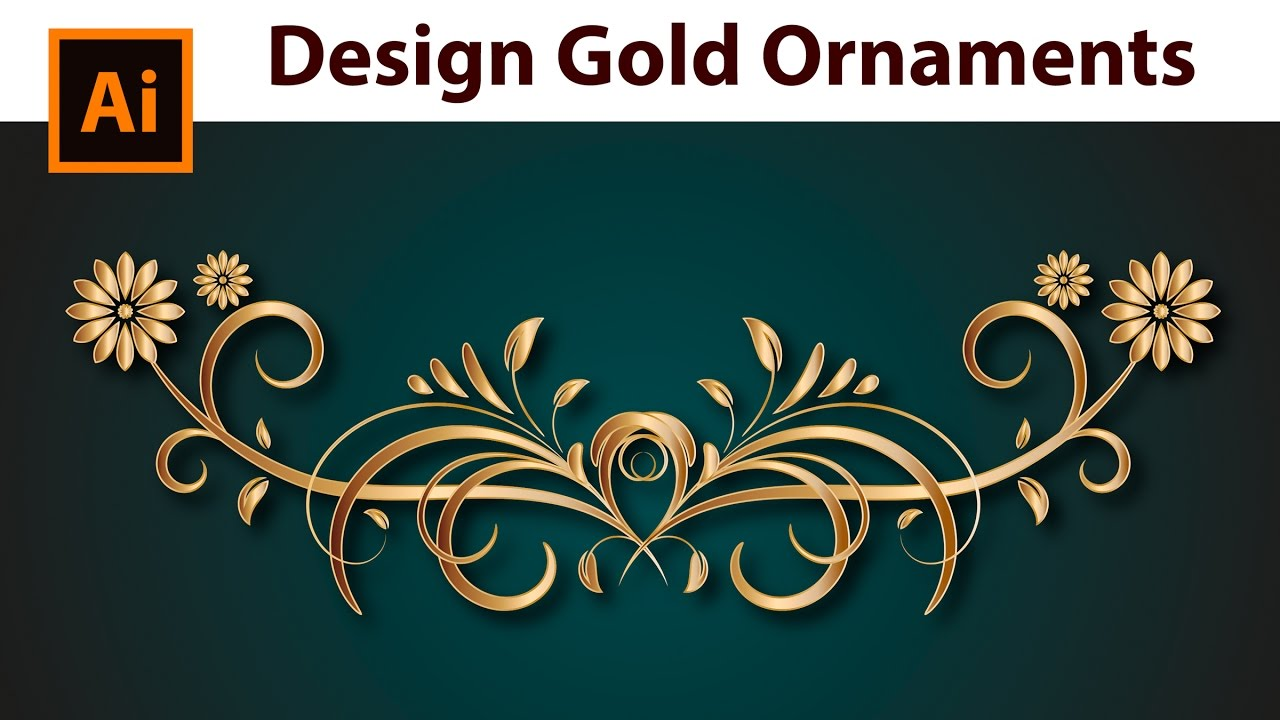How to create a Gold Border - Adobe Illustrator with dagubi