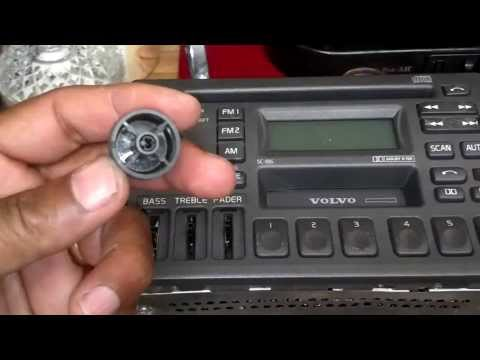 How to replace light bulbs in the Volvo radio / stereo, Volvo 850, S70, V70, 960, S90, etc. - VOTD