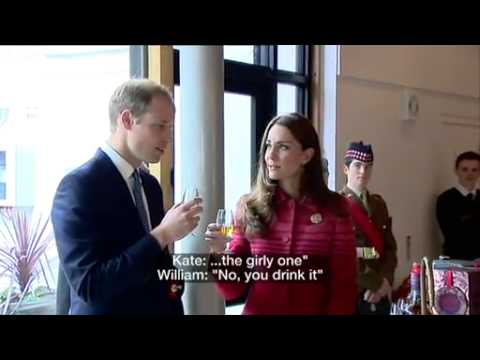 BBC News   Royal visit  William and Kate try whisky tasting