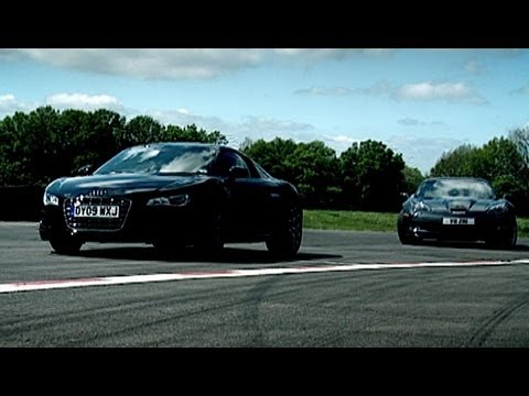 Corvette ZR1 vs Audi R8 | Now in Full HD | Top Gear | Series 14 | BBC