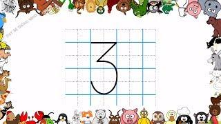 Bé học chữ | Em tập viết chữ số lớp 1 | Viết các chữ số 0,1,2,3,4,5,6,7,8,9